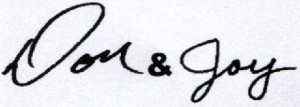 Don and Joy Signature