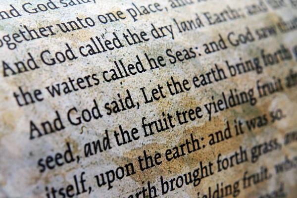 Bible close up