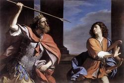 Saul Attacking David-s